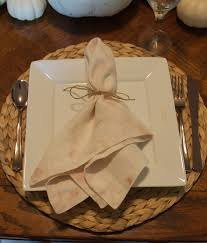 all things thanksgiving tablescape place settings white