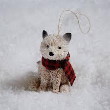 bottle brush ornament baby fox scarf west elm