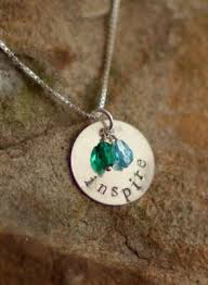 custom charm custom sted silver charm and necklace with custom imprint