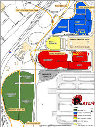 University Of Tennessee Parking Map by Atlanta Airport Parking Map Atlanta Airport Pinterest