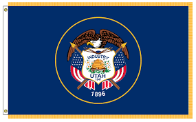 What Does The American Flag Look Like Pioneer Utah State Flag U0026 Seal