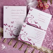 pink butterfly wedding invitations iwi005 wedding