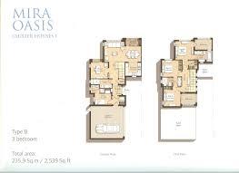 floor plans mira oasis townhouses reem dubailand