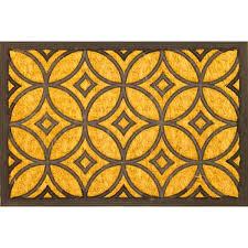 Coco Doormat Envelor Home Geometric Art Deco Coir Coco Rubber Doormat