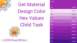 get material design color hex values child task rorycodes