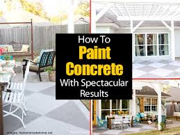 Painting Patio Pavers Painting A Concrete Patio With Spectacular Results