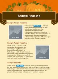 free email templates to celebrate thanksgiving email marketing tips