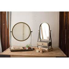Table Vanity Mirror Vanity Mirrors Make Up Table Top Mirrors Bellacor