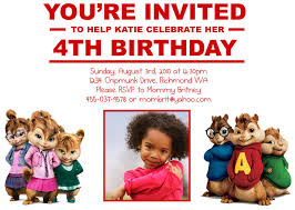 custom birthday invitations alvin and the chipmunk custom birthday invitation flickr