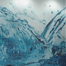 piscine en verre mosaïque de salle de bain de piscine murale en verre