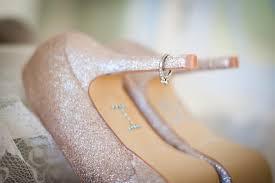 blush wedding shoes blush wedding shoes with engagement ring on heel