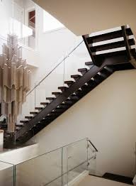luxury residential open rise contemporary stair design featuring