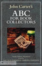collector s abc for book collectors 9th ed john carter nicolas barker simran