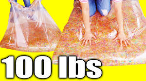 100 lbs water blob with 10 000 water beads cool diy project for