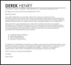 collection of solutions sample cover letter for telecom project
