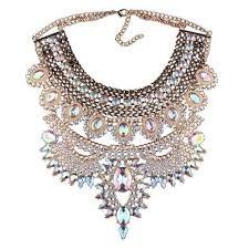 crystal necklace statement images Crystal embellished statement necklace tori 39 s treasure haul jpeg