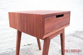 Modern Diy Furniture by Modern Diy End Table Side Table Fixthisbuildthat