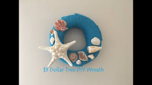 seashell wreath diy dollar tree seashell wreath