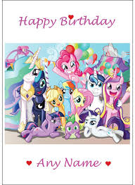 Mlp Birthday Card 117 Best My Little Pony Party Ideas Images On Pinterest Ponies