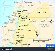 Gulf Of Aqaba Map Jordan Country Map Stock Vector 268809728 Shutterstock
