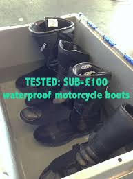 motorbike boots on sale tested sub 100 waterproof motorcycle visordown