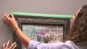 how to hang picture frames that have no hooks how to hang artwork youtube
