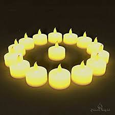 24 flameless tealights battery operated flickering