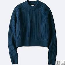 women u merino ribbed mock neck sweater uniqlo us