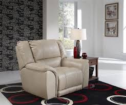 carmine power lay flat recliner in timber pebble or smoke leather