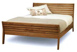 bedroom tall bed frame cherry sleigh bed king size wood bed