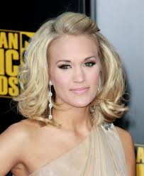 easy sexy updos for shoulder length hair carrie underwood sexy pulled back hairstyle 2009 american music