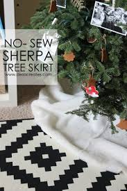 no sew sherpa christmas tree skirt