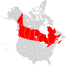 Northern Canada Map File Map Of North America Highlighting Oca Archdiocese Of Canada