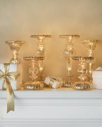 led mercury glass candle holders balsam hill