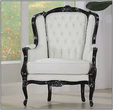 off white leather accent chair chairs home decorating ideas