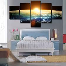 canvas painting for home decoration 2016 5 panels hd the dawn of the universe panel modern home