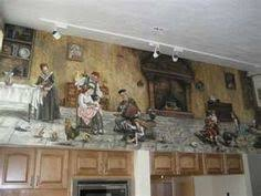 kitchen wall mural ideas my kitchen wall mural finished wall murals kitchens and walls