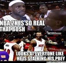 Chris Bosh Meme - nba memes on twitter chris bosh in nba 2k http t co gdn2bg4un8