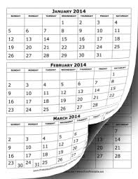 printable 2017 calendar two months per page printable 2014 calendar three months per page