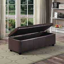 Walmart Storage Ottoman Bench Design Bench Design Large Storage Seat Simpli Home Avalon