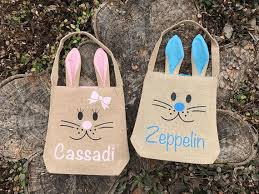 blank easter baskets personalized easter basket easter basket easter bags burlap easter