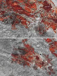 California Wildfires Rocky Fire by Burn Scars From The Rocky Fire California Nasa