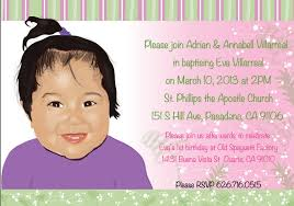 Example Of Invitation Card For Birthday Great Examples Of Baptism And Christening Invitation Cards Emuroom
