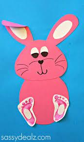 bunny footprint craft for kids remeslá nicu a zajačikovia