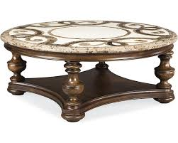 trebbiano round cocktail table stone top thomasville furniture