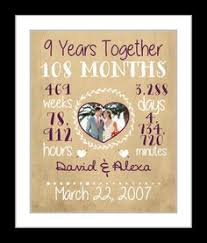 9 year anniversary gift ideas for him 9th anniversary gift 9 years married wedding anniversary gift
