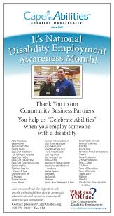 thank you for your support during national disability employment