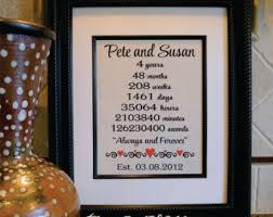 monogrammed anniversary gifts linen anniversary etsy