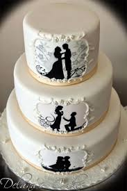 Halloween Themed Wedding Cakes Best 25 Silhouette Wedding Cake Ideas On Pinterest Silhouette