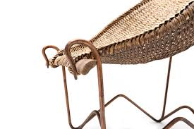 mid century duyan wicker chair by john risley for sale at pamono